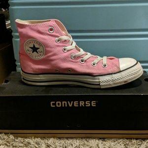 Pink Converse Hi-tops size 8 women's